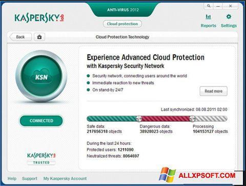 સ્ક્રીનશૉટ Kaspersky Windows XP