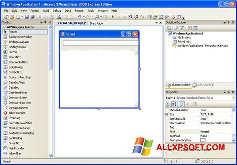 સ્ક્રીનશૉટ Microsoft Visual Basic Windows XP