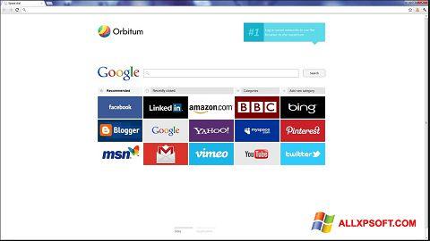 સ્ક્રીનશૉટ Orbitum Windows XP