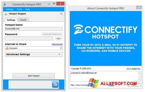 સ્ક્રીનશૉટ Connectify Windows XP