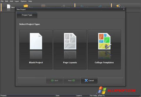 સ્ક્રીનશૉટ PhotoMix Collage Windows XP