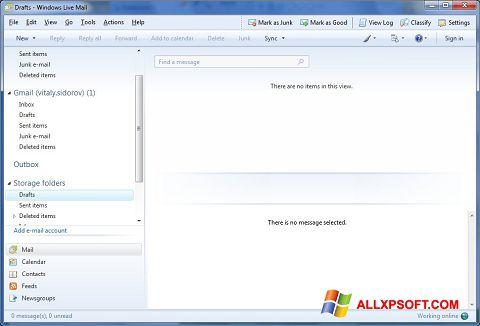 સ્ક્રીનશૉટ Windows Live Mail Windows XP