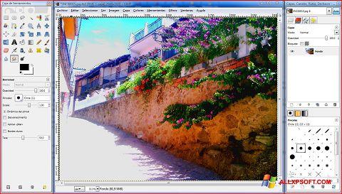 સ્ક્રીનશૉટ GIMP Windows XP