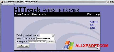 સ્ક્રીનશૉટ HTTrack Website Copier Windows XP