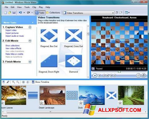 સ્ક્રીનશૉટ Windows Movie Maker Windows XP