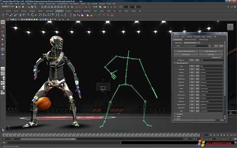 સ્ક્રીનશૉટ Autodesk Maya Windows XP