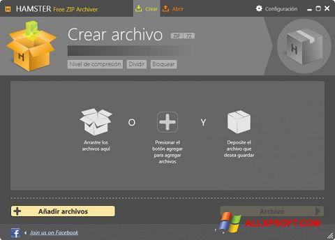 સ્ક્રીનશૉટ Hamster Free ZIP Archiver Windows XP