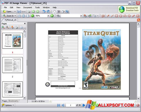 સ્ક્રીનશૉટ PDF-XChange Viewer Windows XP