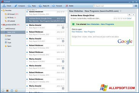 સ્ક્રીનશૉટ FoxMail Windows XP