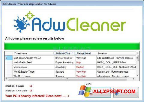 સ્ક્રીનશૉટ AdwCleaner Windows XP