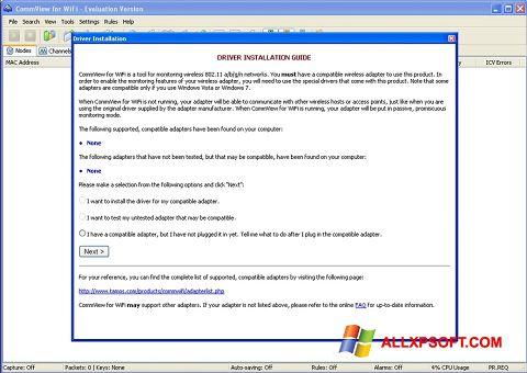 સ્ક્રીનશૉટ CommView for WiFi Windows XP