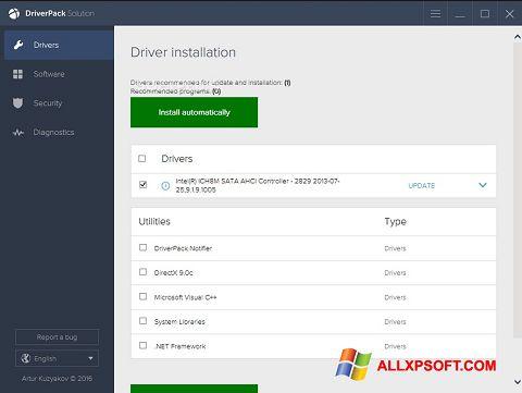 સ્ક્રીનશૉટ DriverPack Solution Windows XP