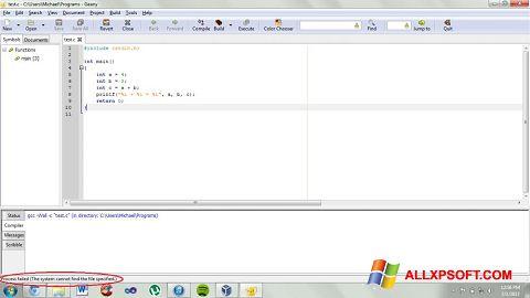 સ્ક્રીનશૉટ Geany Windows XP