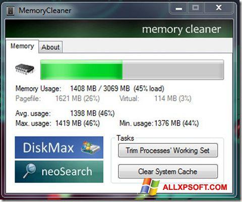 સ્ક્રીનશૉટ Memory Cleaner Windows XP