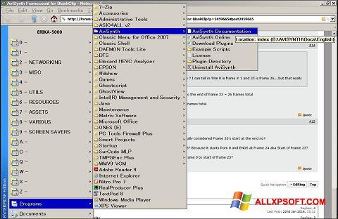 સ્ક્રીનશૉટ AviSynth Windows XP