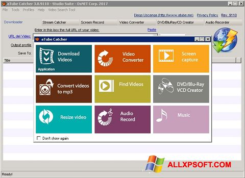 સ્ક્રીનશૉટ aTube Catcher Windows XP