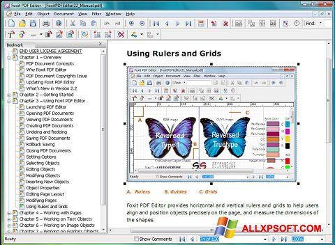 સ્ક્રીનશૉટ Foxit PDF Editor Windows XP