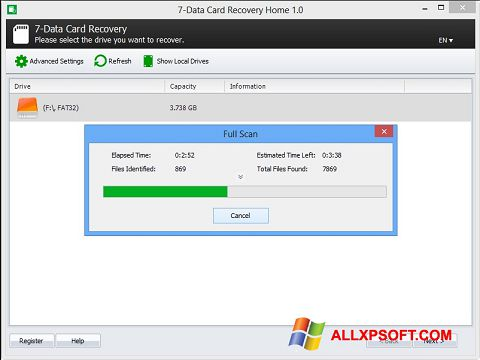 સ્ક્રીનશૉટ CardRecovery Windows XP