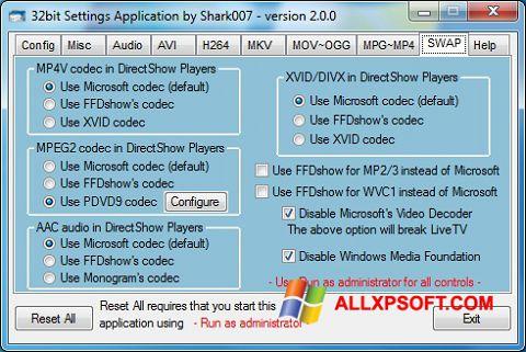 સ્ક્રીનશૉટ ADVANCED Codecs Windows XP