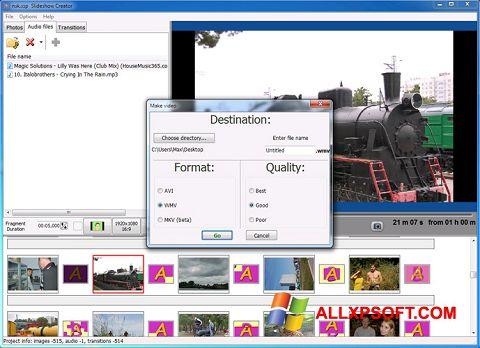 સ્ક્રીનશૉટ Bolide Slideshow Creator Windows XP