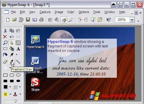 સ્ક્રીનશૉટ HyperSnap Windows XP