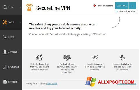 સ્ક્રીનશૉટ Avast SecureLine VPN Windows XP