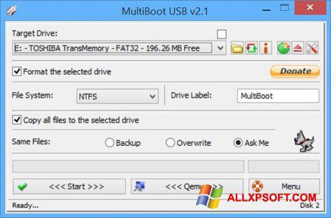 સ્ક્રીનશૉટ Multi Boot USB Windows XP