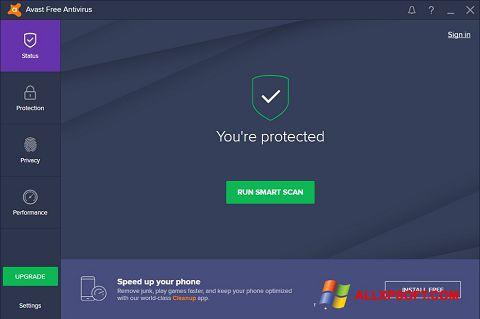 સ્ક્રીનશૉટ Avast Free Antivirus Windows XP