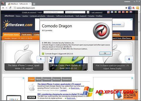 સ્ક્રીનશૉટ Comodo Dragon Windows XP