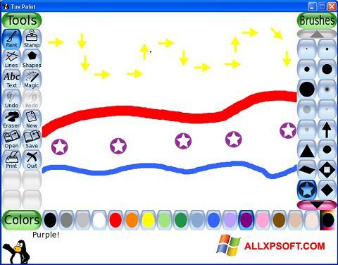 સ્ક્રીનશૉટ Tux Paint Windows XP