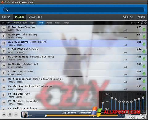 સ્ક્રીનશૉટ VkAudioSaver Windows XP
