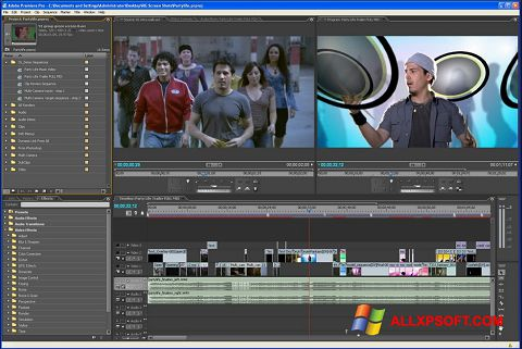સ્ક્રીનશૉટ Adobe Premiere Pro Windows XP