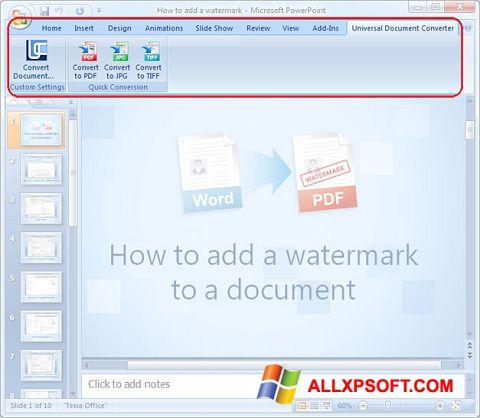 સ્ક્રીનશૉટ Microsoft PowerPoint Windows XP