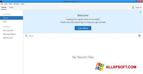 સ્ક્રીનશૉટ Adobe Acrobat Pro DC Windows XP