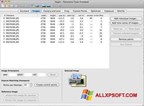 સ્ક્રીનશૉટ Hugin Windows XP