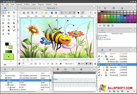સ્ક્રીનશૉટ Synfig Studio Windows XP