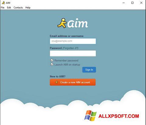 સ્ક્રીનશૉટ AOL Instant Messenger Windows XP