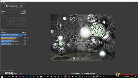 સ્ક્રીનશૉટ CINEBENCH Windows XP