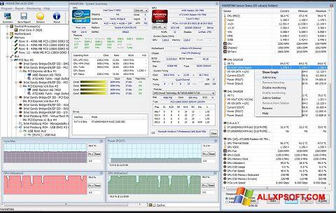 સ્ક્રીનશૉટ HWiNFO Windows XP