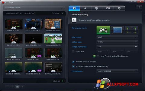 સ્ક્રીનશૉટ Action! Windows XP