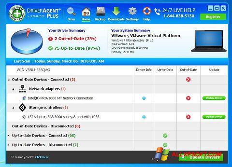સ્ક્રીનશૉટ DriverAgent Windows XP