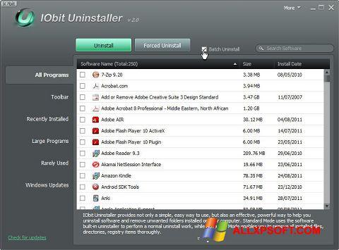 સ્ક્રીનશૉટ IObit Uninstaller Windows XP