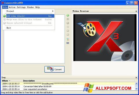 સ્ક્રીનશૉટ ConvertXToDVD Windows XP
