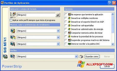 સ્ક્રીનશૉટ PowerStrip Windows XP
