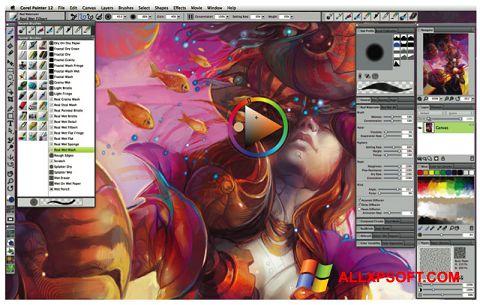 સ્ક્રીનશૉટ Corel Painter Windows XP