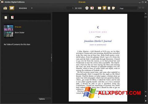 સ્ક્રીનશૉટ Adobe Digital Editions Windows XP