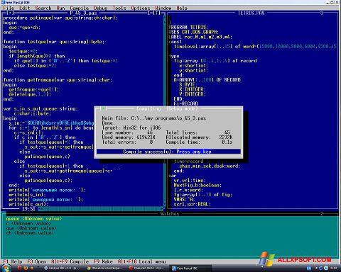 સ્ક્રીનશૉટ Free Pascal Windows XP