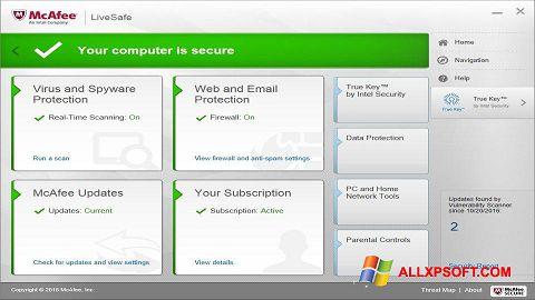 સ્ક્રીનશૉટ McAfee LiveSafe Windows XP
