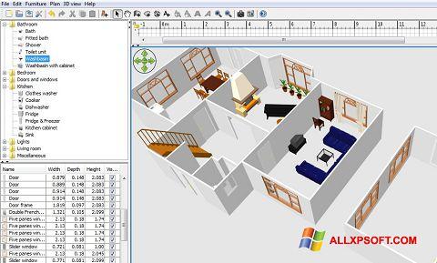 સ્ક્રીનશૉટ FloorPlan 3D Windows XP