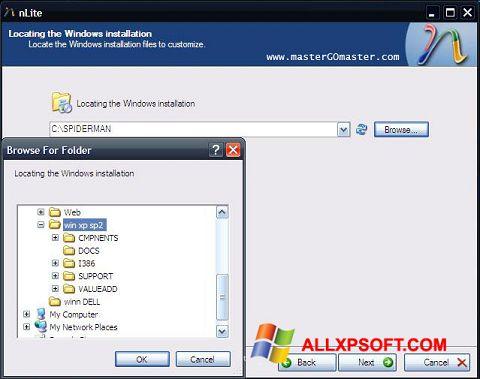 સ્ક્રીનશૉટ nLite Windows XP
